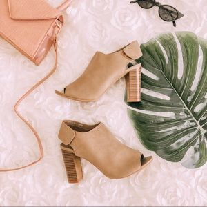 Taupe Mules / Heels Sandals